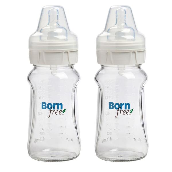 Born Free 9-ounce Wide Neck Glass Bottle (Set of 2)