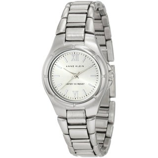 Anne Klein Women's Silver Brass Plated Stainless Steel Quartz Watch