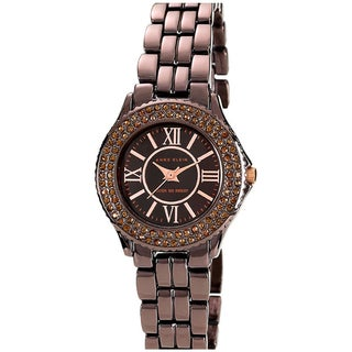 Anne Klein Women's Brown Brass Plated Stainless-Steel Quartz Watch