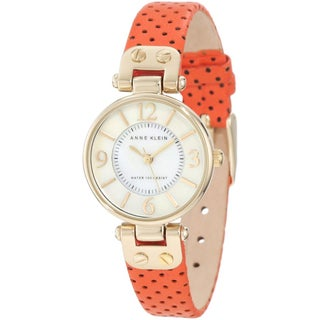 Anne Klein Women's Orange Calf Skin Quartz Watch
