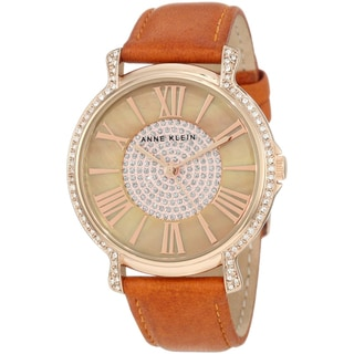 Anne Klein Women's Stainless Steel Leather Watch