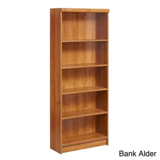 akadaHOME Wooden Five-Shelf Bookcase