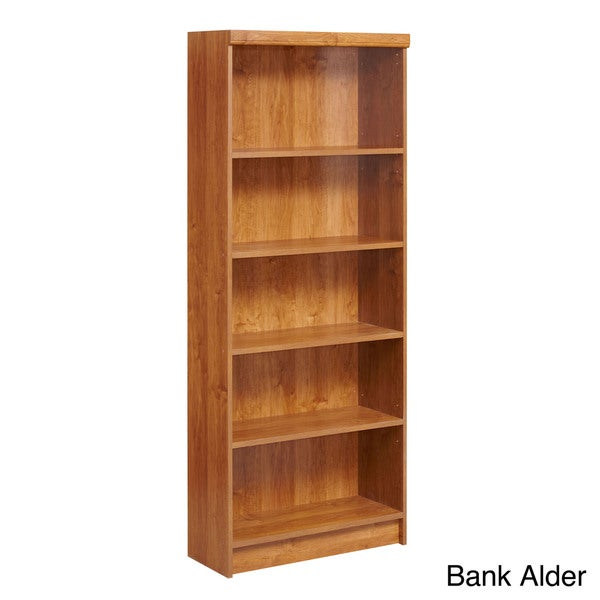 akadaHOME Wooden Five-Shelf Bookcase