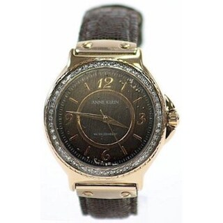 Anne Klein Women's Brown Leather Quartz Watch