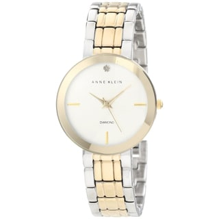 Anne Klein Women's Two-tone Brass Plated Stainless-Steel Quartz Watch