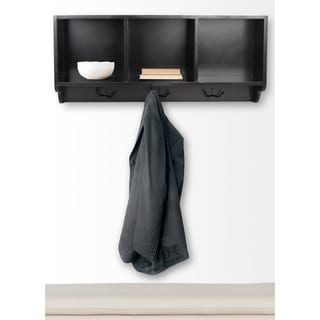 Safavieh Alice Black Cubby Wall Shelf