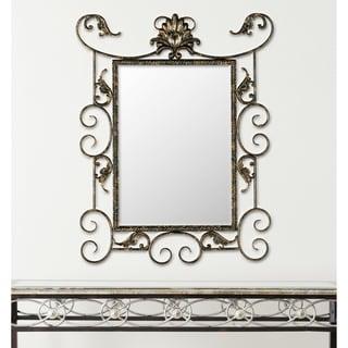 Safavieh Brenda Antiqued Brown/ Gold Mirror