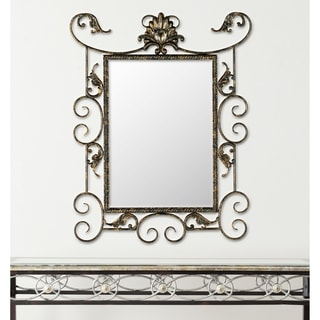 Safavieh Brenda Antiqued Brown/ Gold Mirror