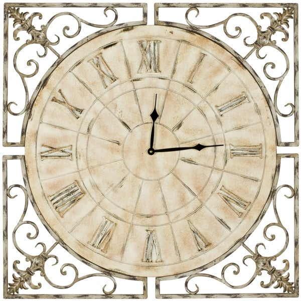 Safavieh Kathleen Antiqued White Clock