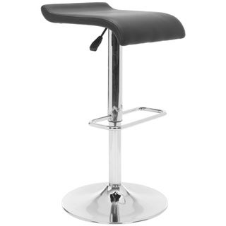 Safavieh Henry Black Leather Bar Stool