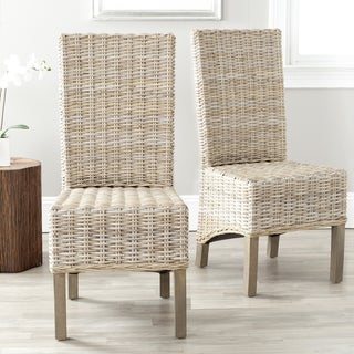 Safavieh Pembrooke Unfinished Natural Wicker Side Chairs (Set of 2)