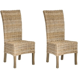 Safavieh Quaker Unfinished Natural Wicker Side Chairs (Set of 2)
