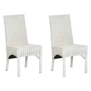 Rattan Dining Room Chairs. Home U203a White Wicker Indoor ...