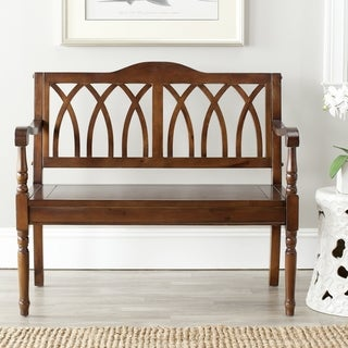Safavieh Benjamin Dark Walnut Finish Bench