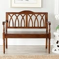 Benjamin Dark Walnut Finish Bench