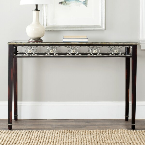 Safavieh Lisa Antiqued Black Console Table