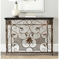Brenda Antiqued Brown Console Table