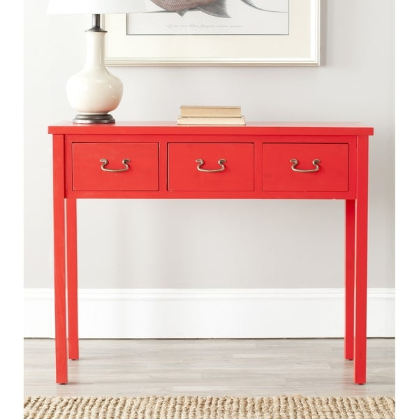 red console table 2