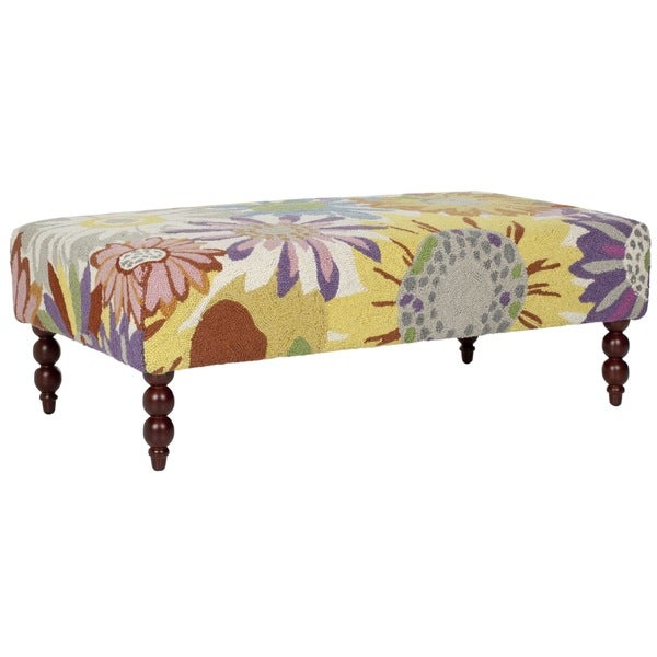 Safavieh Maxi Floral Hand-hooked Rug Ottoman