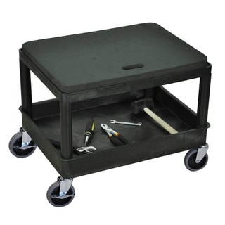 Luxor MS21-B Black Mobile Mechanics Seat