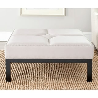 Safavieh Terrence Taupe Cocktail Ottoman