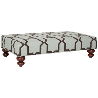 Safavieh Moorish Tile Light Blue Dhurrie Rug Ottoman