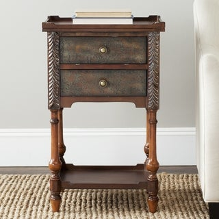 Safavieh Marge Dark Brown Side Table