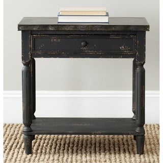 Safavieh John Antiqued Black Side Table