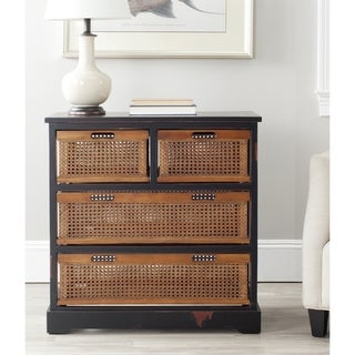 Jackson Black 4-drawer Wicker Basket Storage Unit