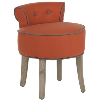 Safavieh Georgia Orange Vanity Stool