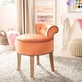Georgia Orange Vanity Stool