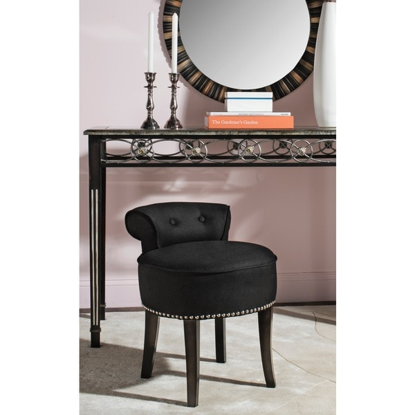 Safavieh Georgia Black Vanity Stool