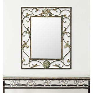 Safavieh Cheryl Antiqued Brown/ Gold Mirror