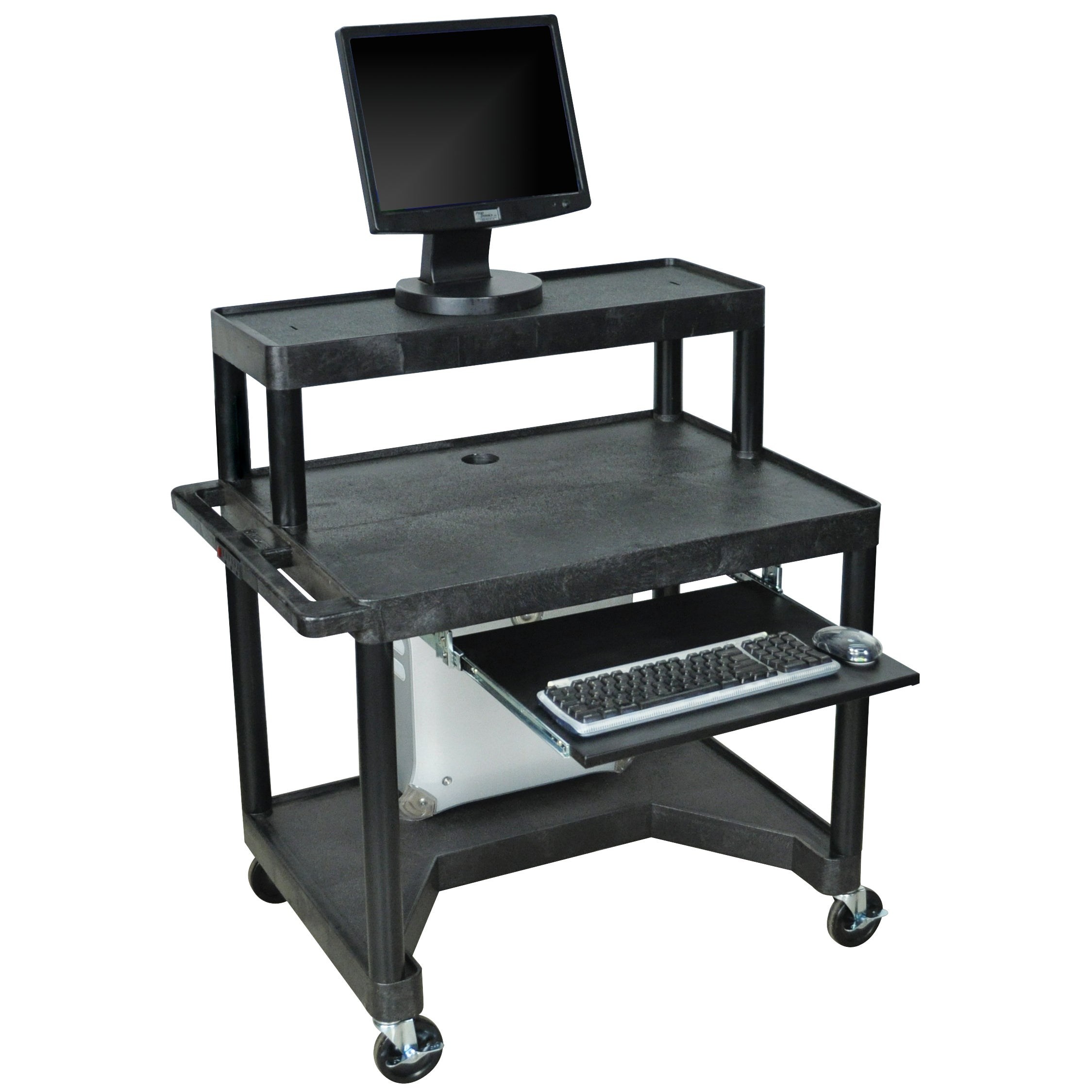 Luxor Black LEM32TK-B 3-shelf Computer Work Station at Sears.com