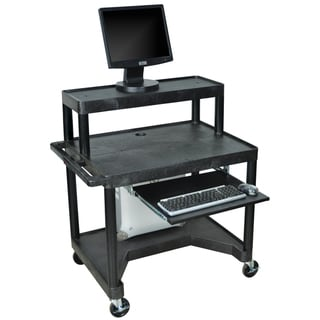 Luxor Black LEM32TK-B 3-shelf Computer Work Station