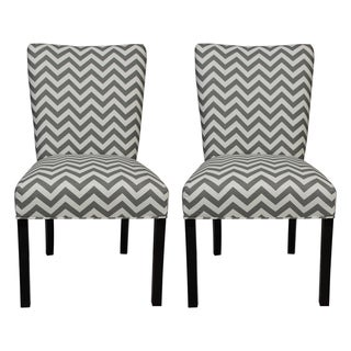 Julia Zig Zag Grey Dining Chairs (Set of 2)