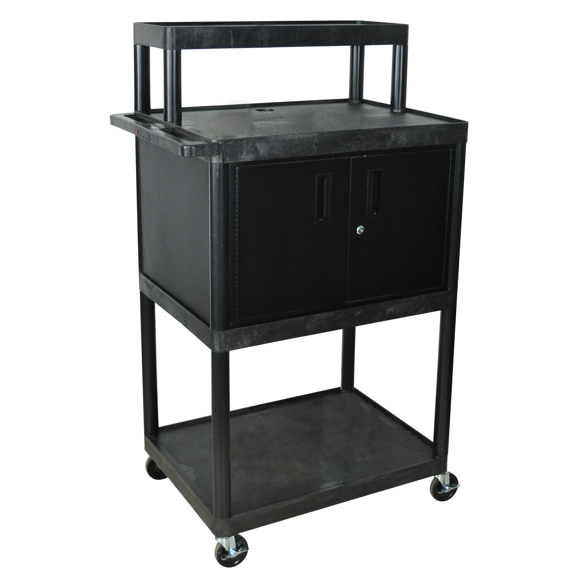 Luxor Black LTIMC-B Warehouse 4-shelf Plastic Stand Up Black Work Station at Sears.com