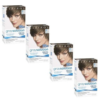 Clairol Nice 'n Easy Gray Solution 6A Light Ash Brown Hair Color Treatment (Pack of 4)