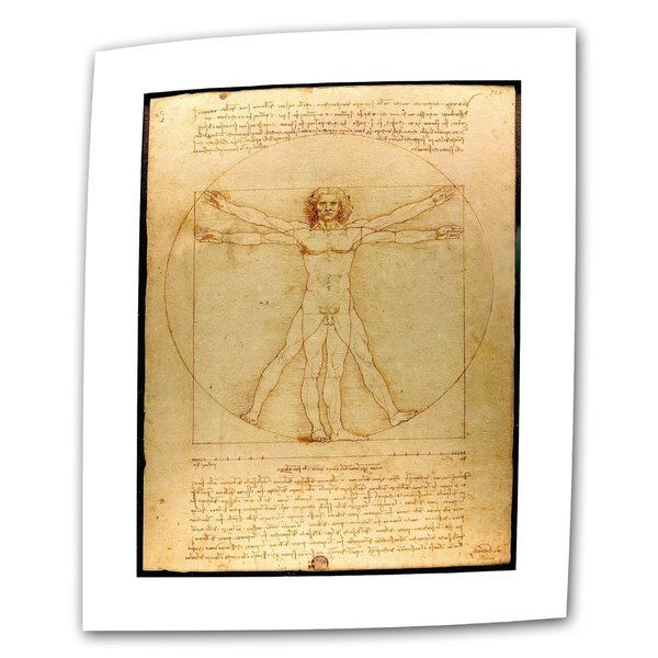 Leonardo Da Vinci 'Vitruvian Man' 36x48 Flat Canvas