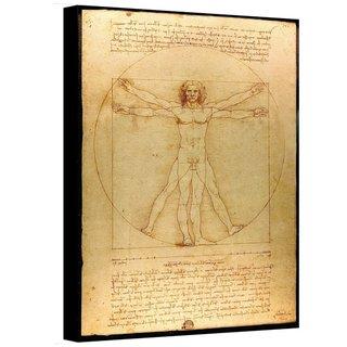 Leonardo Da Vinci 'Vitruvian Man' Gallery Wrapped Canvas