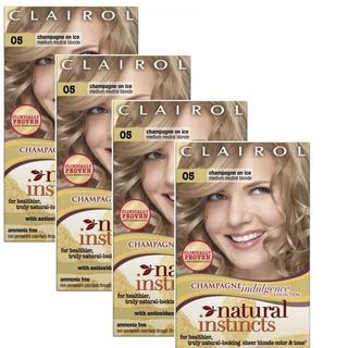 Clairol Natural Instincts 05 Champagne on Ice Non-Permanent Hair Color (Pack of 4)