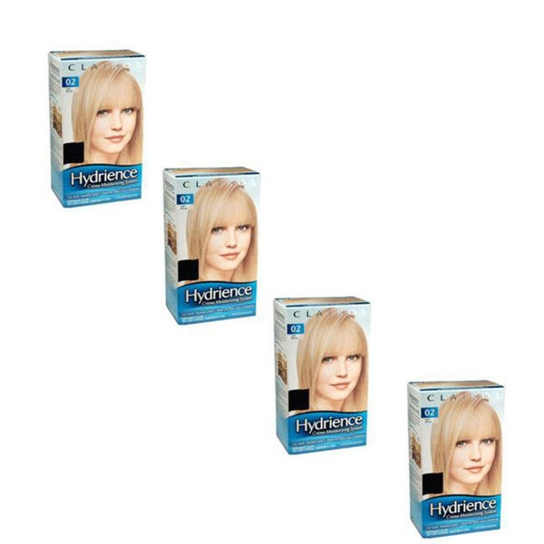 Clairol Hydrience Creme Beach Beige 02 Moisturizing Hair Color System (Pack of 4)