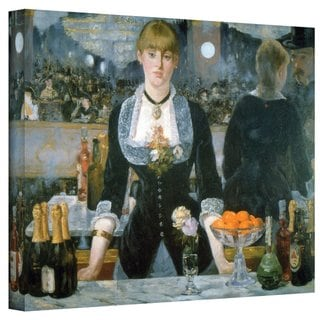 Edouard Manet 'A Bar at The Folies-Bergere' 36x48 Gallery Wrapped Canvas
