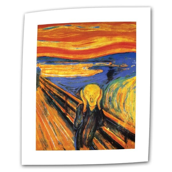 Edvard Munch 'The Scream' Flat Canvas