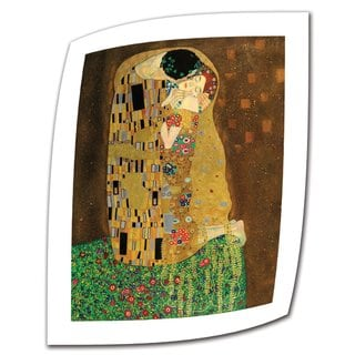 Gustav Klimt 'The Kiss' Flat Canvas