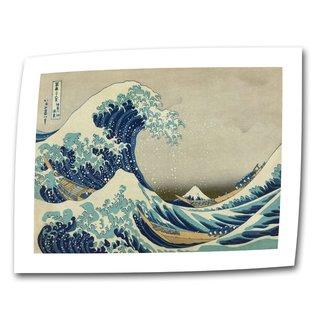 Katsushika Hokusai 'The Great Wave of Kanagawa' Flat Canvas