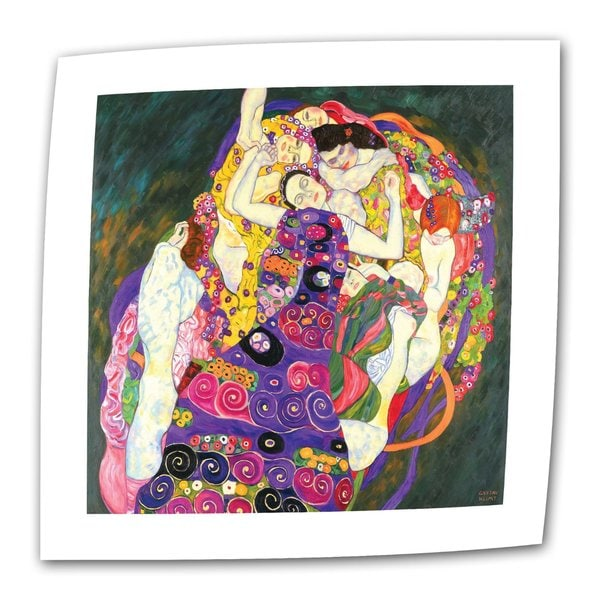 Gustav Klimt 'Virgins' Flat Canvas