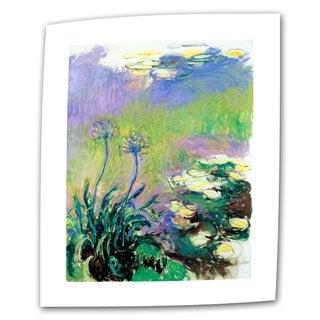 Claude Monet 'Agapanthus' Flat Canvas