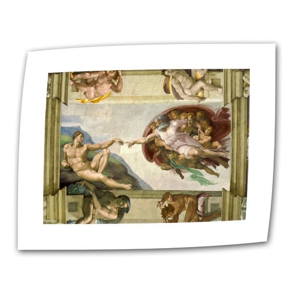 Michelangelo 'The Creation of Adam' Flat Canvas