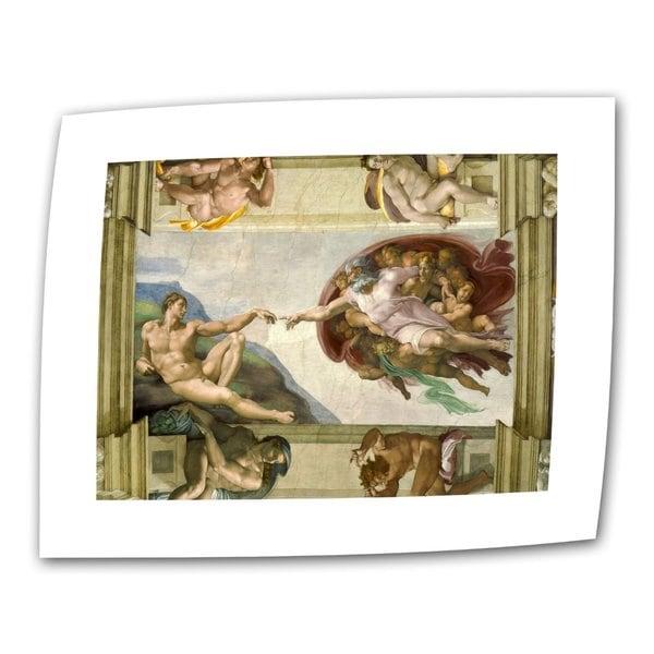 Michelangelo 'The Creation of Adam' Flat Canvas